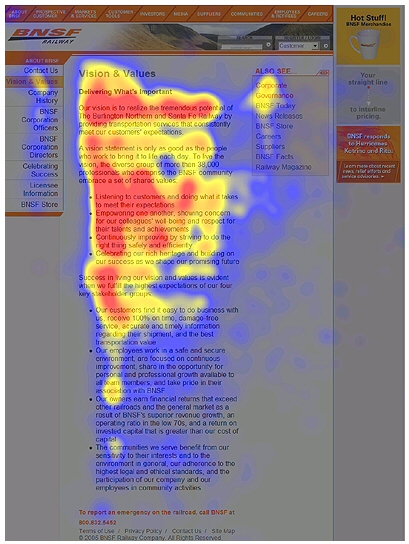 Website eye-tracking studies